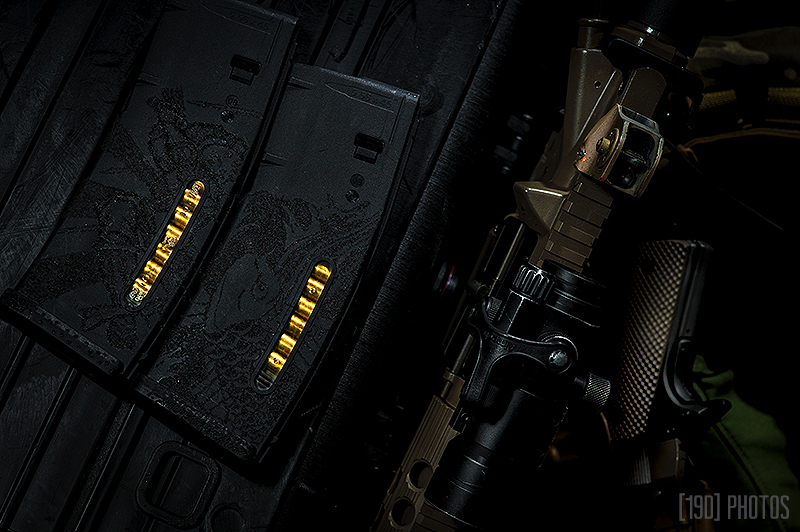 stippled magazines, weapon photographer, tactical photography